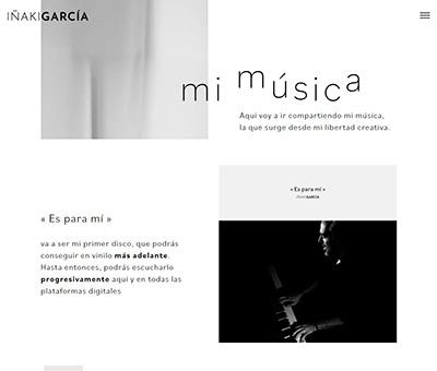 Pantallazo de la web de Iñaki García